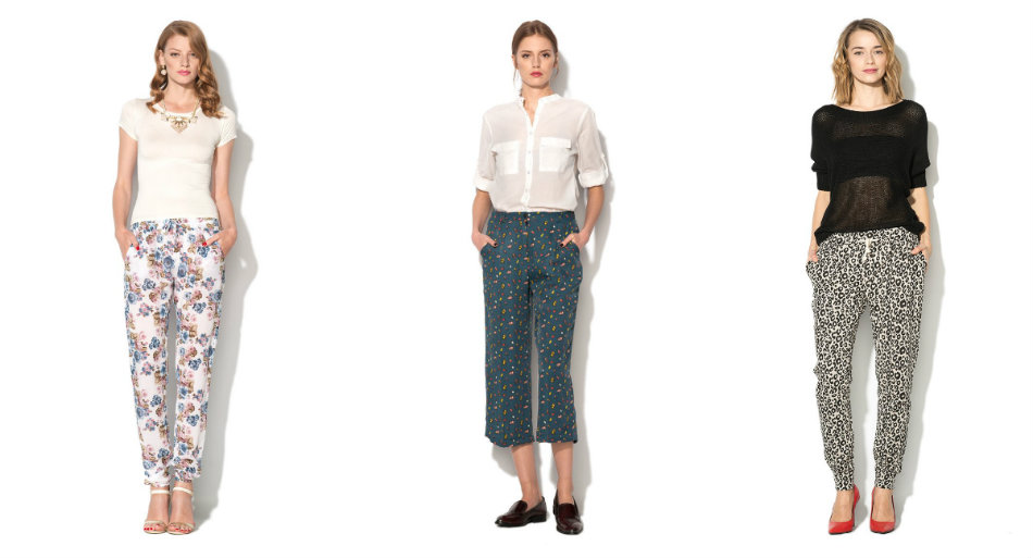 pantalon cu imprimeu