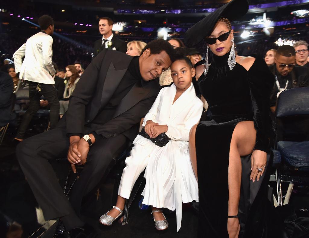Jay Z, Blue Ivy Carter & Beyonce