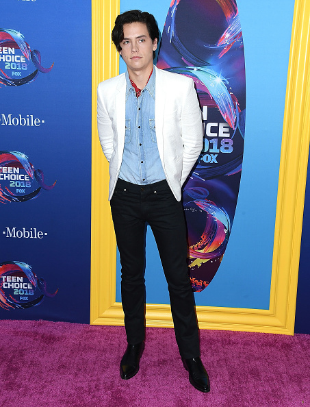 INGLEWOOD, CA - AUGUST 12: Cole Sprouse arrives at the FOX's Teen Choice Awards 2018 at The Forum on August 12, 2018 in Inglewood, California. (Photo by Steve Granitz/WireImage)